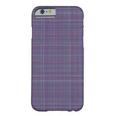 Purple Plaid Barely There iPhone 6 Case