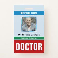 doctor id card 1 healthcare hospital badge badge template
