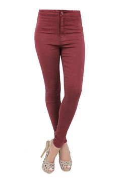 UK New Sexy Women High Waist Stretch Slim Skinny Denim Jeans Pants UK Size 6-14