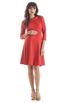 Lilac Zooey Ponte Maternity Skater Dress Small Ginger -- Read more  at the image link. Note: It's an affiliate link to Amazon.