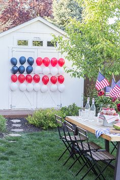 Try these patriotic of July crafts to deck out your home in red, white, and blue. These Fourth of July crafts for kids and adults are the best way to celebrate. Fourth Of July Decor, 4th Of July Celebration, 4th Of July Decorations, 4th Of July Party, July 4th, Americana Decorations, 4th Of July Games, Outdoor Decorations, Patriotic Party