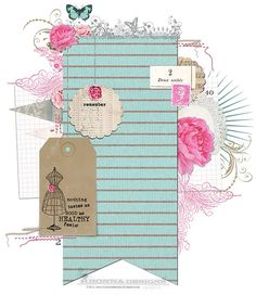Idea scrapbook layout.
