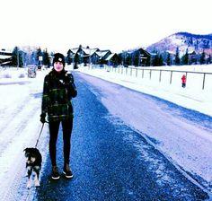 Dakota and her dog