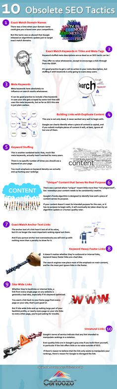 10 tácticas de SEO obsoletas #infografia #infographic #seo
