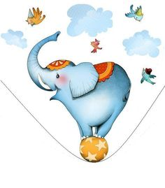 sticker decorativo infantil elefante