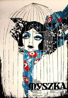 By Zbigniew Kaja (1924-1983),1 9 5 9, Mouse, Myszka, Musical poster.
