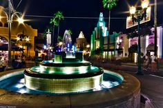 There are few places as glamourous as Hollywood Boulevard at night #disney #imagineering