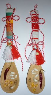 Шаренийки: Мартеници 2013 Christmas Crafts For Kids, Christmas Ornaments, Bulgarian, Spoon, Birthday Ideas, Projects To Try, March, Holiday Decor, Rose