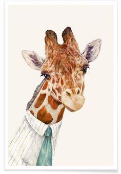 Mr Giraffe als Premium Poster von Animal Crew | JUNIQE