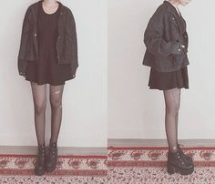 Very Grunge and Very Appreciated Grunge Style Outfits, Mode Outfits, Fashion Outfits, Cheap Fashion, Stylish Outfits, Dark Fashion, Grunge Fashion, Winter Fashion, Fashion Photo