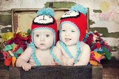 Thing 1 Thing 2 Inspired Crochet Hat and Photography Prop