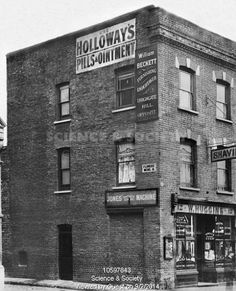 Mr Huggins, barbers and shaving, Archway Road, 1904 Vintage London, Old London, North London, London Life, London Street, London History, Local History, History Pics, Old Pictures