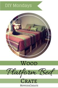 Platform Bed made from Wood Crates