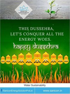 Let The Truth of Human existence Win over the crisis of water and energy. Sanicon Sustainability wished you #HappyDussehra!