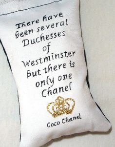 Coco Chanel Quote Lavender Sachet by WilliamandHazel on Etsy, $4.95