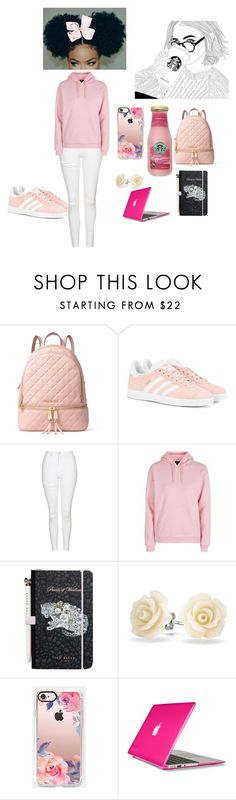 """""""chilling at starbucks"""" by sarcastic100 ❤ liked on Polyvore featuring MICHAEL Michael Kors, adidas Originals, Topshop, Ted Baker, Bling Jewelry, Casetify, Speck and SIWA"""