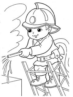 Image may contain drawing is part of Preschool coloring pages - Preschool Coloring Pages, Coloring For Kids, Printable Coloring Pages, Coloring Pages For Kids, Adult Coloring, Coloring Books, Drawing Lessons For Kids, Art Drawings For Kids, Fireman Quilt