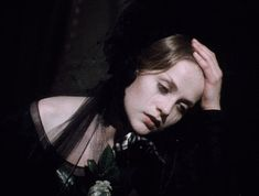 Isabelle Huppert in 'Lady of the Camelias' Isabelle Huppert, Manado, Aesthetic Gif, Retro Aesthetic, French Films, Indie Movies, Black Veil, Alfred Hitchcock, Wedding Art