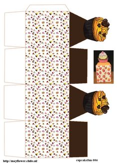 Cupcake Boxes, Paper Cupcake, Cupcake Packaging, Sheep Crafts, Printable Box, Box Patterns, Packing Boxes, Party In A Box, Decoupage Paper