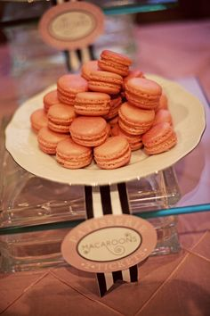 Strawberry Pink French Macarons