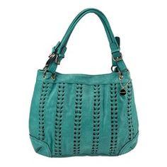 Big Buddha Granada Shoulder Bag - turquoise makes a stylish statement