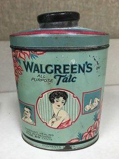 Walgreen-1920s-All-Purpose-Talc-10-5oz-Tin-Good-Graphics-litho