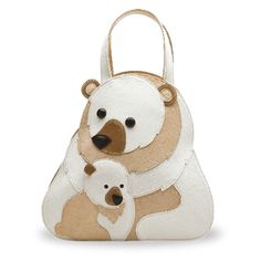 Polar bear purse from Braccialini 2010 collection, in collaboration with the WWF