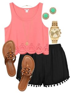 #summer #outfits / crop top + hem short