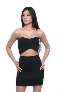 Check out our Peek-A-Boo Bandage Dress! #shopgirlongirl #style #fashion #dress #littleblackdress #bandagedress #shop #shopaholic #shopper #sexydress #sexy