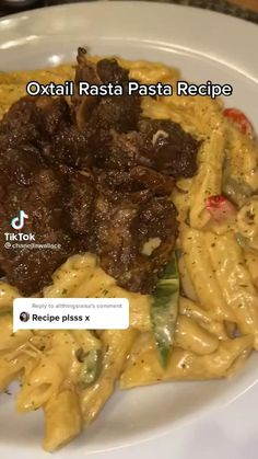 Oxtail Recipes, Beef Recipes, Cooking Recipes, Healthy Recipes, New Recipes For Dinner, Lunch Recipes, Jamaican Dishes, Easy Homemade Recipes, Feel Good Food