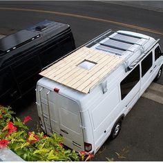 """219 Likes, 2 Comments - VanCraft (@van_craft) on Instagram: """"Solar ✔️ roof vent ✔️ ladder ✔️ roof deck PC: @vanceuribe . . . #rei1440project #vanlife…"""""""