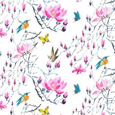 Madame Butterfly in Peony by Designers Guild | Floral fabric | Homes & Gardens | Housetohome | PHOTOGALLERY