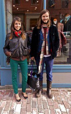 Emma & Marcus www.mainestreets.tumblr.com Photo by Laura Ker Green Tights, Men Fashion, Maine, Tumblr, Street Style, Boys, Moda Masculina, Baby Boys, Man Fashion
