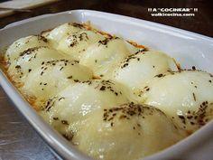 Huevos al horno ( con tomate,queso y bacon )