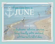 Birthday Birth Month (January February March April May June July August September October November December beachy HOROSCOPE Just for fun!)