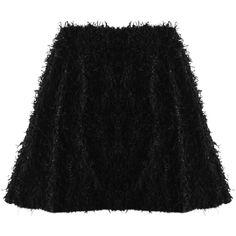 Aziina - Hatch Skirt ($240) ❤ liked on Polyvore featuring skirts, bottoms, black metallic skirt, metallic skirt, black skirt, metallic high waisted skirt and black high waisted skirt