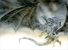 We're pleased to present this first glimpse at Luis Royo's sketches for a new edition of George R. Martin's The Ice Dragon, coming this October from Tor Teen! The Ice Dragon is a tale of courage … Blond Amsterdam, Fantasy Dragon, Fantasy Art, George Rr Martin Books, Heavy Metal, Chromatic Dragon, Book Illustration, Animal Illustrations, Digital Illustration