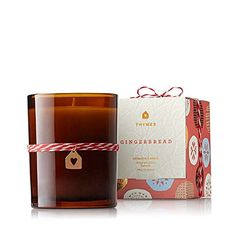 Thymes Gingerbread Candle. Made with food grade paraffin wax for higher quality color and scent. The wick is non metal. Provides burn time of up to 60 hours.