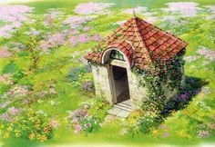 Living Lines Library: ハウルの動く城 / Howl's Moving Castle - Background Design Studio Ghibli Background, Animation Background, Studio Ghibli Art, Studio Ghibli Movies, Hayao Miyazaki, Totoro, 8bit Art, Howls Moving Castle, Environmental Art