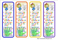 """Bookmarks to help kids choose a """"just right"""" book"""