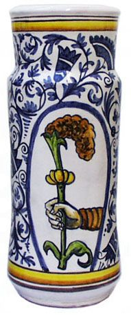 Ceramic Dictionary - by Susan Mussi: MAJOLICA: 5h - Twelve photos of Albarellos – Chemist jars