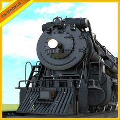 3d train steam engine - detailed 3d model