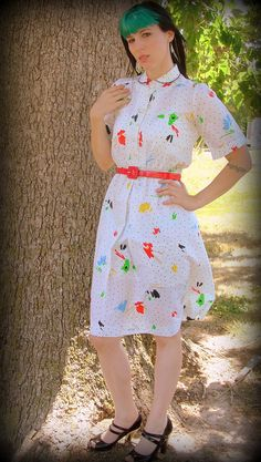 SATURDAY SUN Vintage Secretary Fun and Flirty Dress by VintageBeats, $30.00