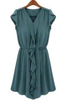 Beautiful Turquoise Dress - optional belt