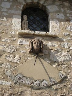 Sundial in Gourdon France     Sundials are ancient timepieces used before mechanicals clocks