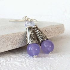Just added another pair of these unusual purple jade earrings to my Etsy shop - the original pair will be heading off to their new home soon