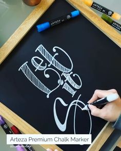 Hand Lettering is one of the most versatile and fun ways to decorate year-round! Check out this beautiful video of creating a cute winter-themed sign with Arteza Liquid Chalk Markers. Vintage Chalkboard, Chalkboard Lettering, Chalkboard Designs, Diy Chalkboard, Chalkboard Print, Christmas Chalkboard Art, Chalk Writing, Hand Lettering Art, Liquid Chalk Markers