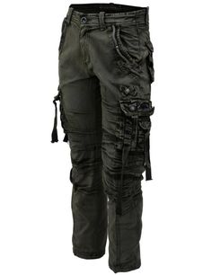 Amazon.com: LNY Apparel Men's multi pocket&strap vintage Combat cargo/military pants (MPT003): Clothing