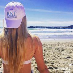 Embroidered baseball hats and sunny skies | Kappa Kappa Gamma | Made by University Tees | www.universitytees.com