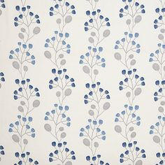 Buy John Lewis Seedlings Furnishing Fabric, Nordic Blue Online at johnlewis.com
